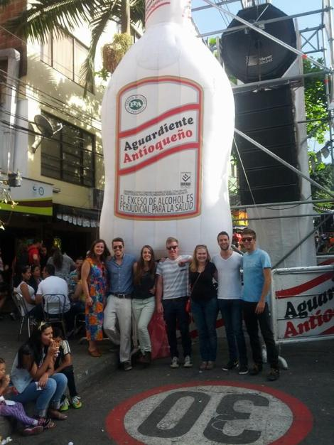 Probably the amount of aguardiente that we consumed that night...