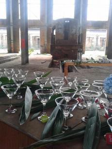 Cocktails in the warehouse