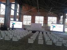 Press Conference set-up