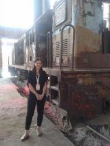 Corina rocking the train